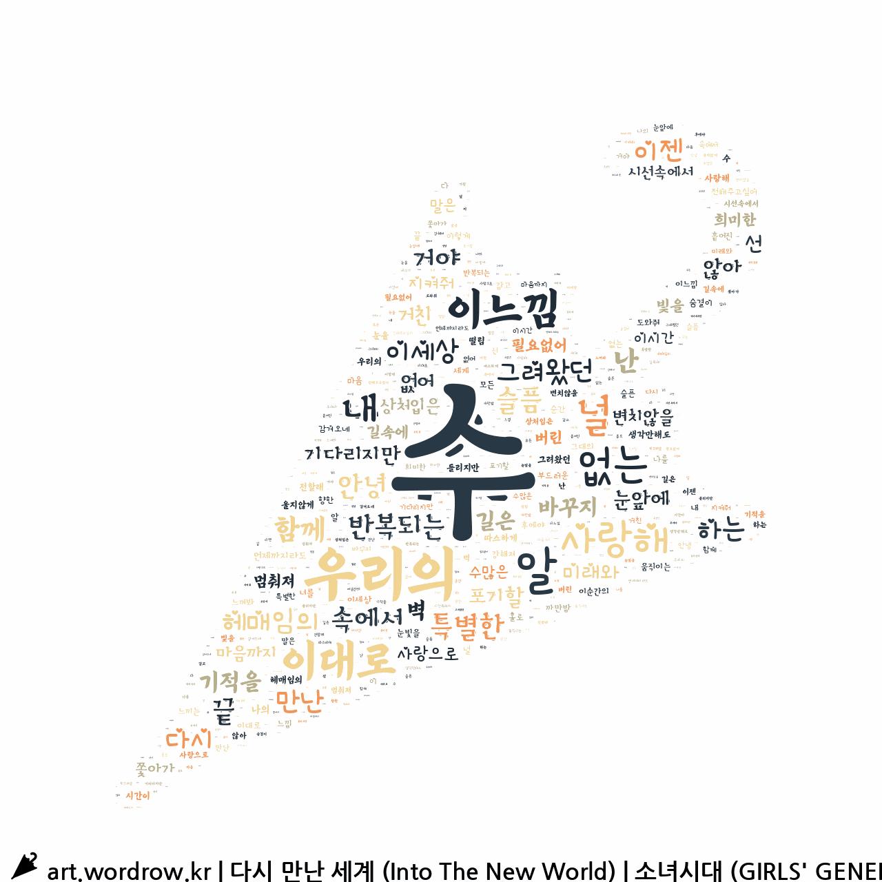 워드 아트: 다시 만난 세계 (Into The New World) [소녀시대 (GIRLS' GENERATION)]-40